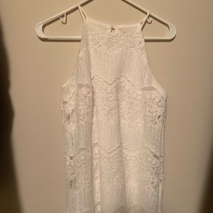 Used- lace white dress size S